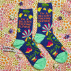 I'm A Delicate Fucking Flower Women's Crew Socks - Blue Q - AlwaysFits.com