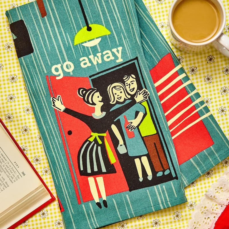 Go Away Dish Towel - Blue Q - AlwaysFits.com
