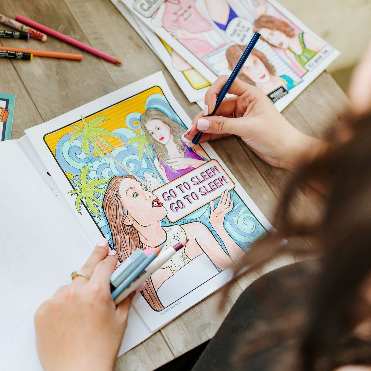 The New York Housewives Coloring Book