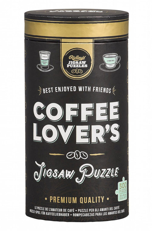 Coffee Lovers 500 Piece Jigsaw Puzzle