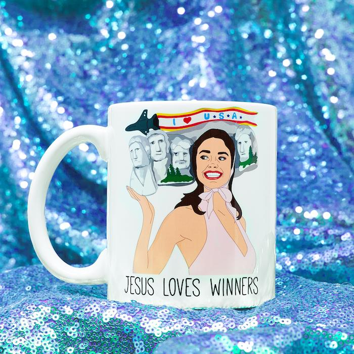 Jesus Loves Winners Ceramic Coffee Mug