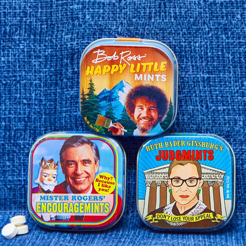 Bob Ross Happy Little Mints - Unemployed Philosophers Guild - AlwaysFits.com