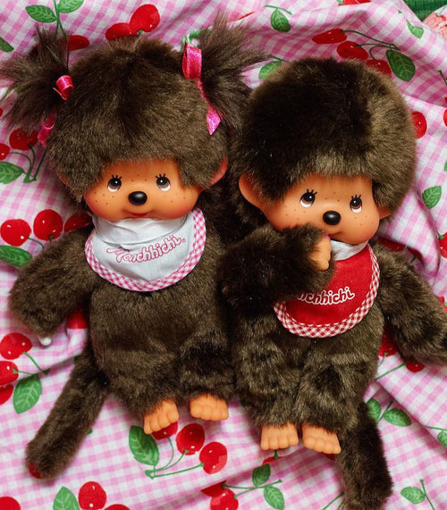 Monchhichi Classic Girl - Pink - Classic 70's and 80's Toys - Schylling - AlwaysFits.com