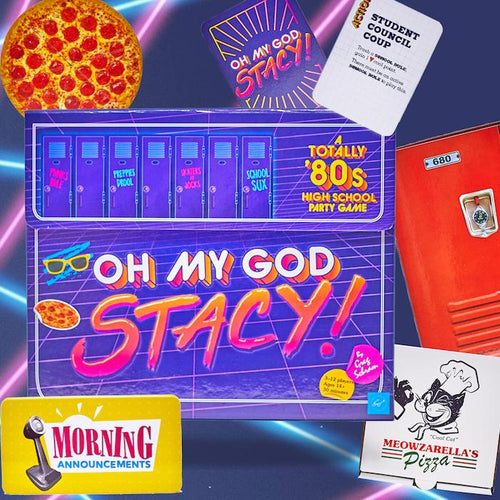 Oh My God, Stacy! - A Totally '80s High School Party Game - Chronicle Books - AlwaysFits.com