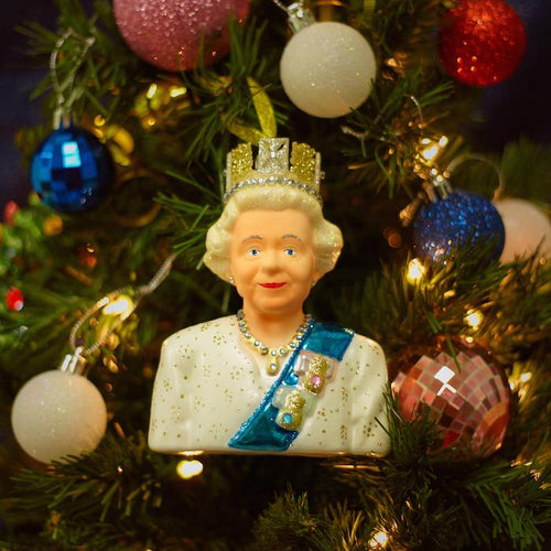 Queen Elizabeth Glass Ornament - PRE-ORDER, SHIPS MID NOVEMBER