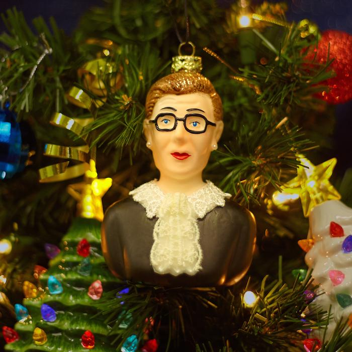 Ruth Bader Ginsburg Glass Ornament - Cody Foster & Co - AlwaysFits.com