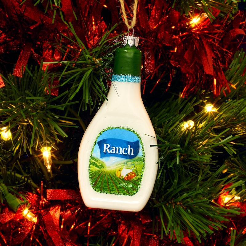 Ranch Dressing Glass Ornament