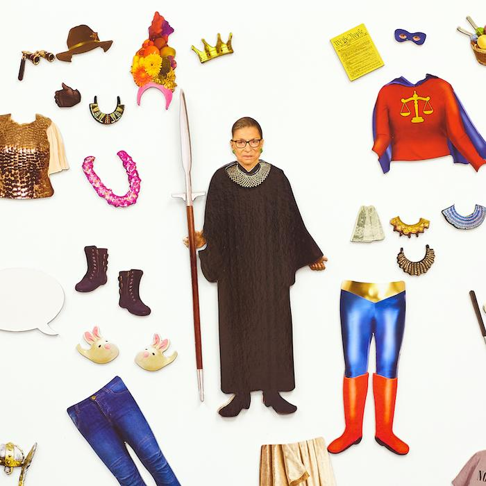 Dress to Dissent Ruth Bader Ginsburg Magnetic Playset