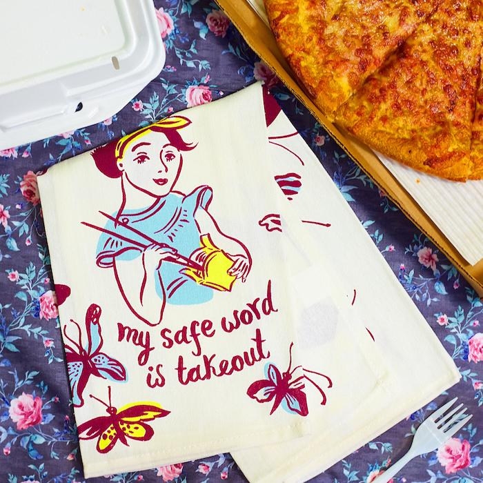My Safe Word Is Take Out Dish Towel - Blue Q - AlwaysFits.com