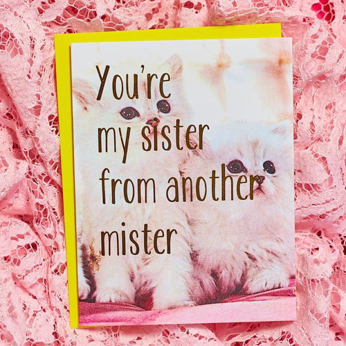 You're My Sister From Another Mister Card