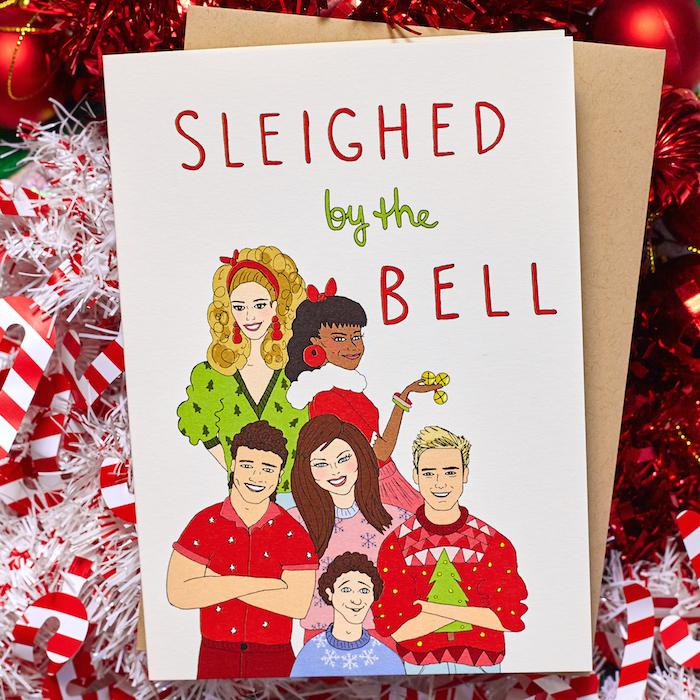 Sleighed by the Bell Card - FINEASSLINES - AlwaysFits.com