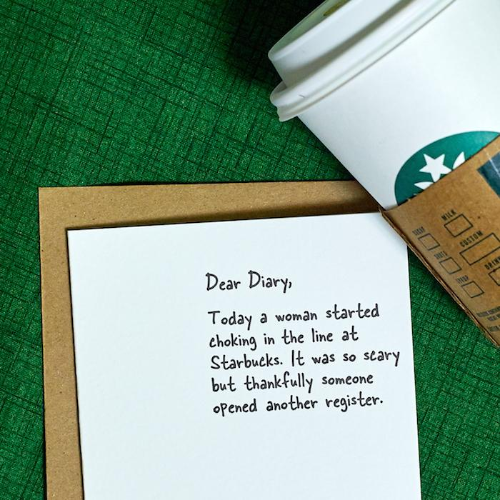 Choking at Starbucks Card - Sapling Press - AlwaysFits.com