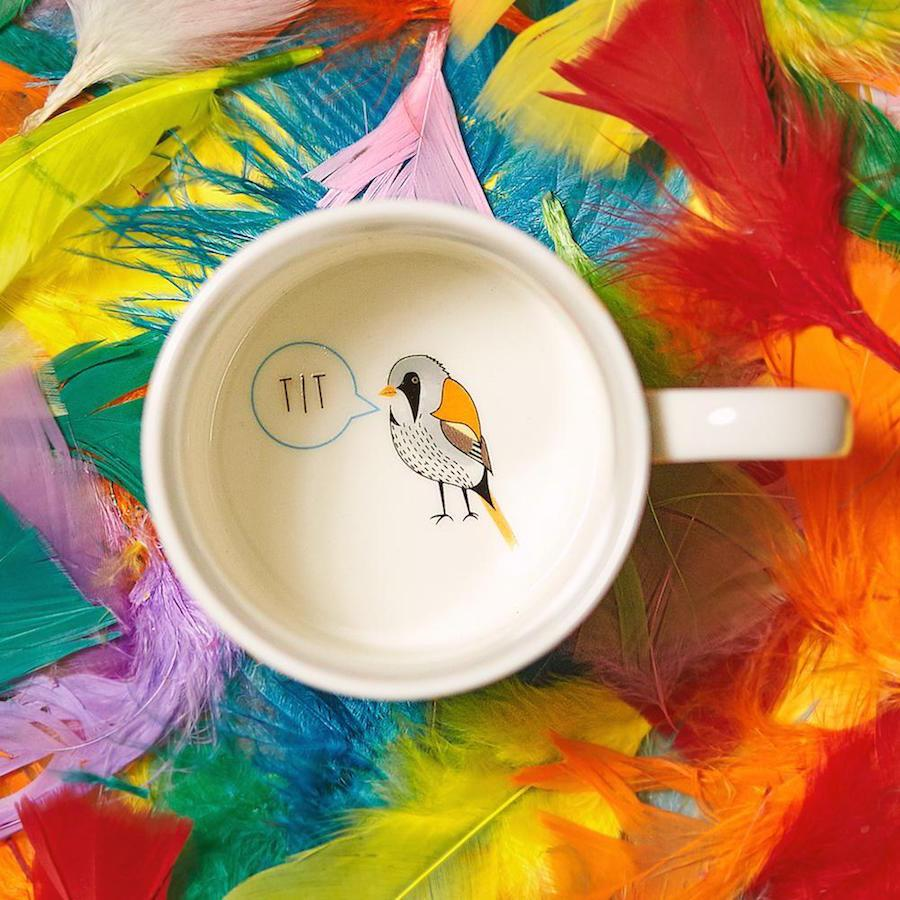 Fowl Language Bird Coffee Mug - PRE-ORDER, SHIPS IN SEPTEMBER - Ginger Fox - AlwaysFits.com