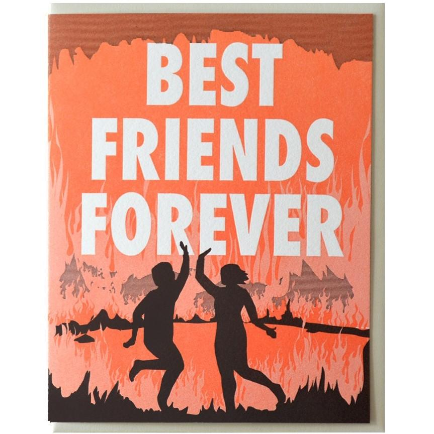 Best Friends Forever in Hell Card