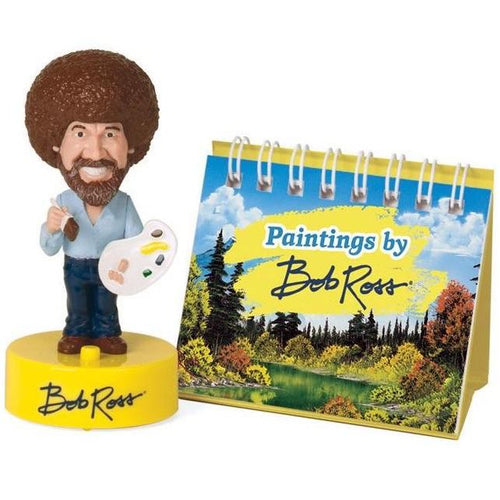Bob Ross Mini Talking Bobblehead