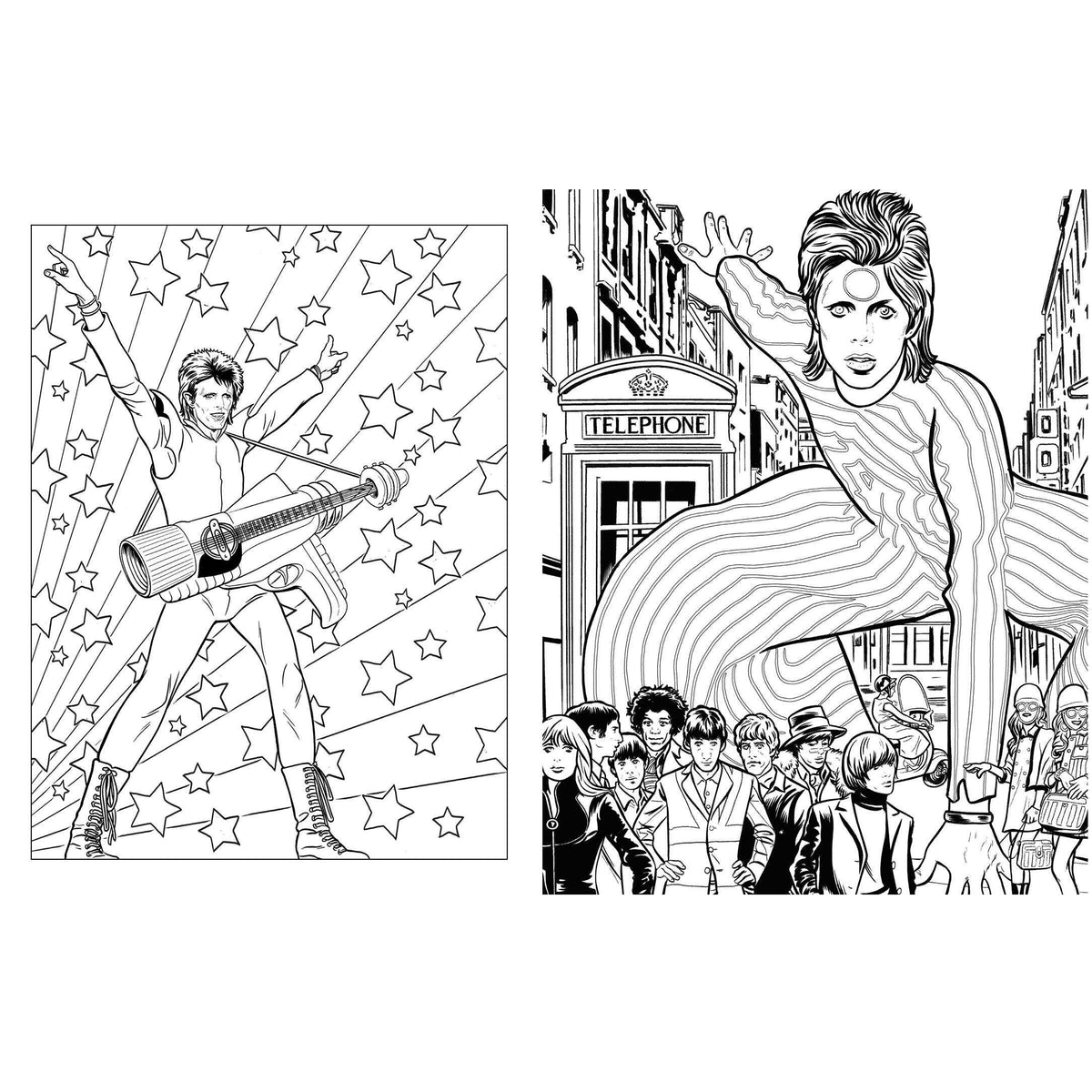 Bowie - A Michael Allred Coloring Book