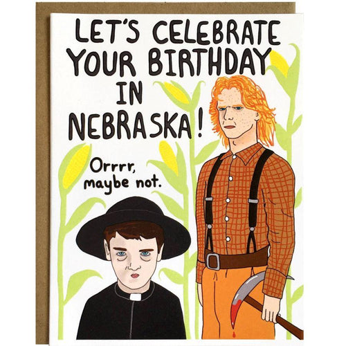 Let's Celebrate Your Birthday in Nebraska Card