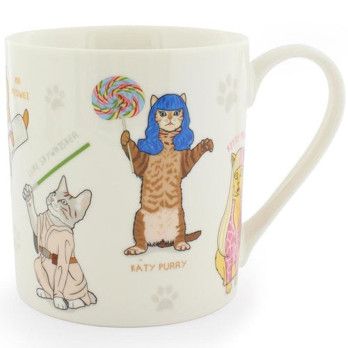 Celebri-Cats Ceramic Coffee Mug
