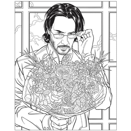 Crush and Color Keanu Reeves Coloring Book