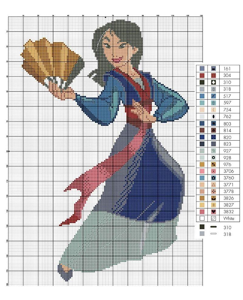 Disney Princess Cross-Stitch Book