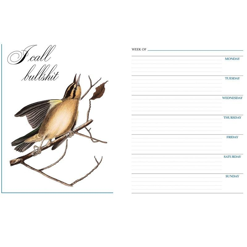 Effin' Birds Monthly & Weekly Planner Calendar