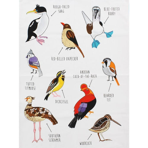 Fowl Language Bird Dish Towel