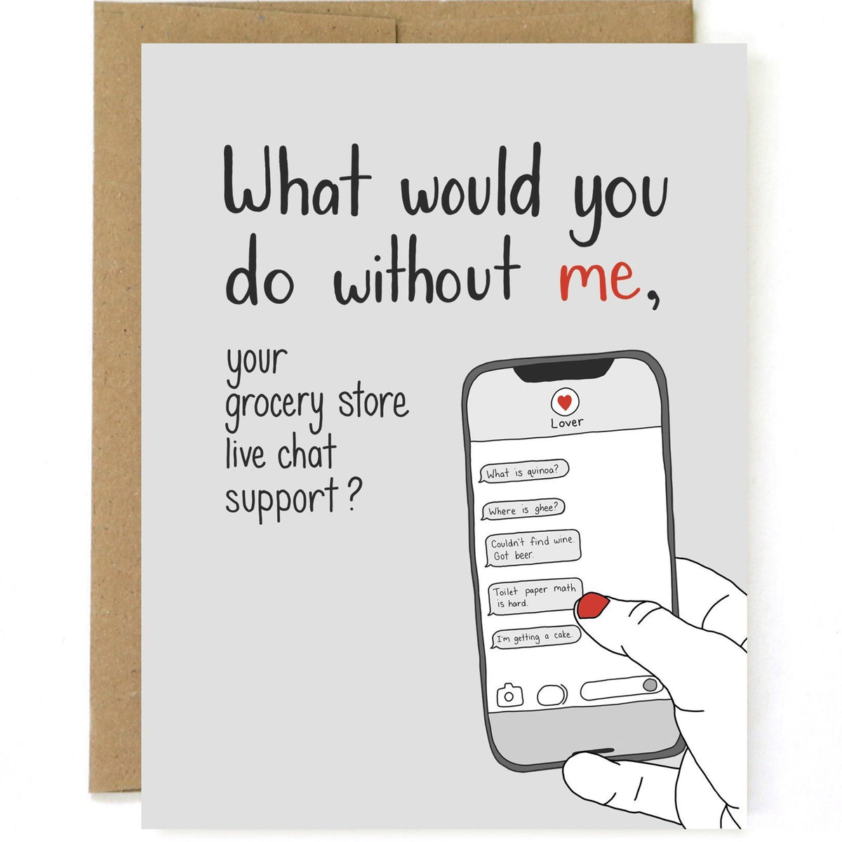 Your Grocery Store Live Chat Support Card