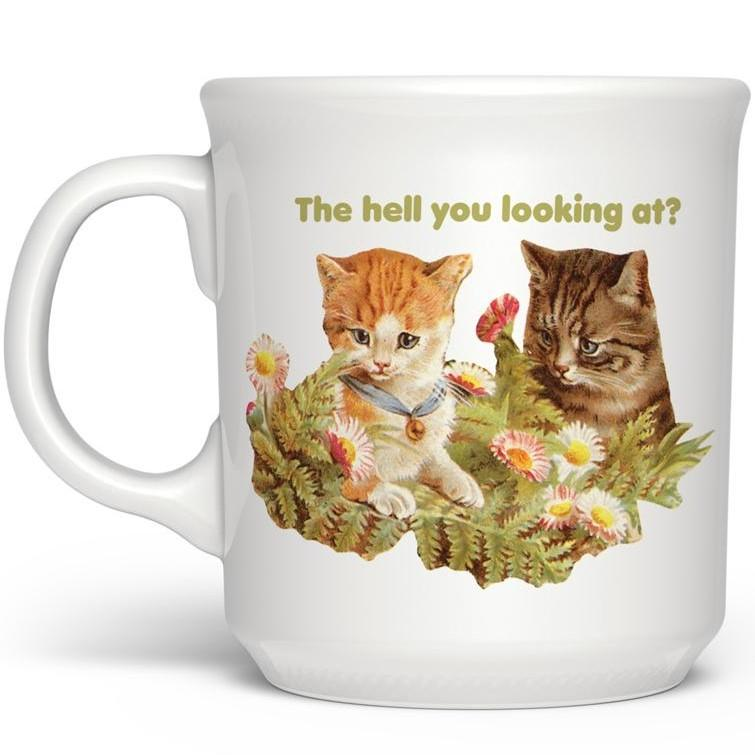 The Hell You Looking At? Porcelain Coffee Mug