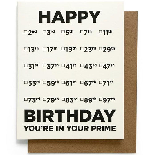 You're in Your Prime Birthday Card
