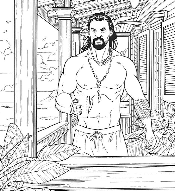 Jason Momoa Coloring Book - Pop Culture Gifts L Macmillan Publishers –  Always Fits