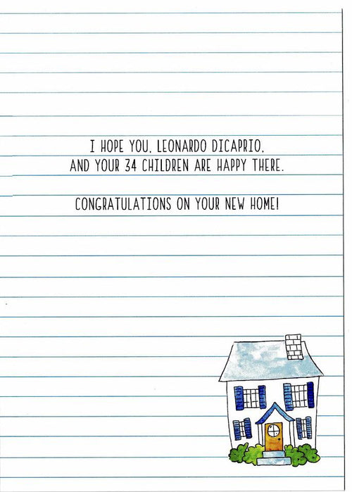 MASH A New Home with Leonardo DiCaprio Card - Party Napkins Co. - AlwaysFits.com