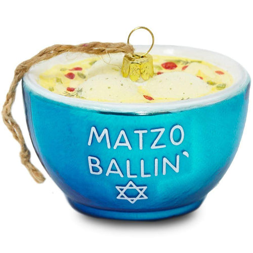 Matzo Ballin Glass Ornament