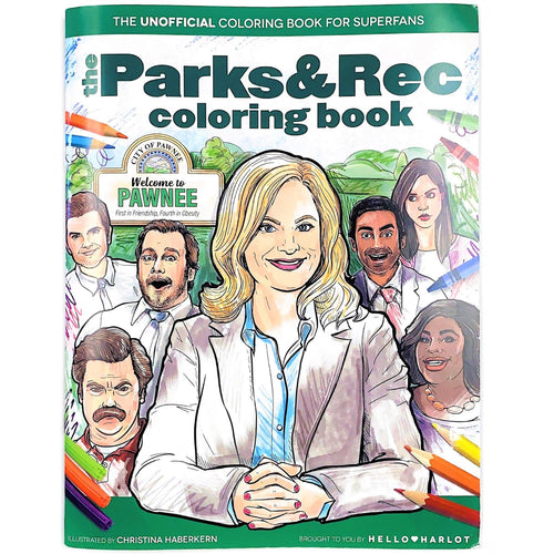 The Parks and Rec Coloring Book
