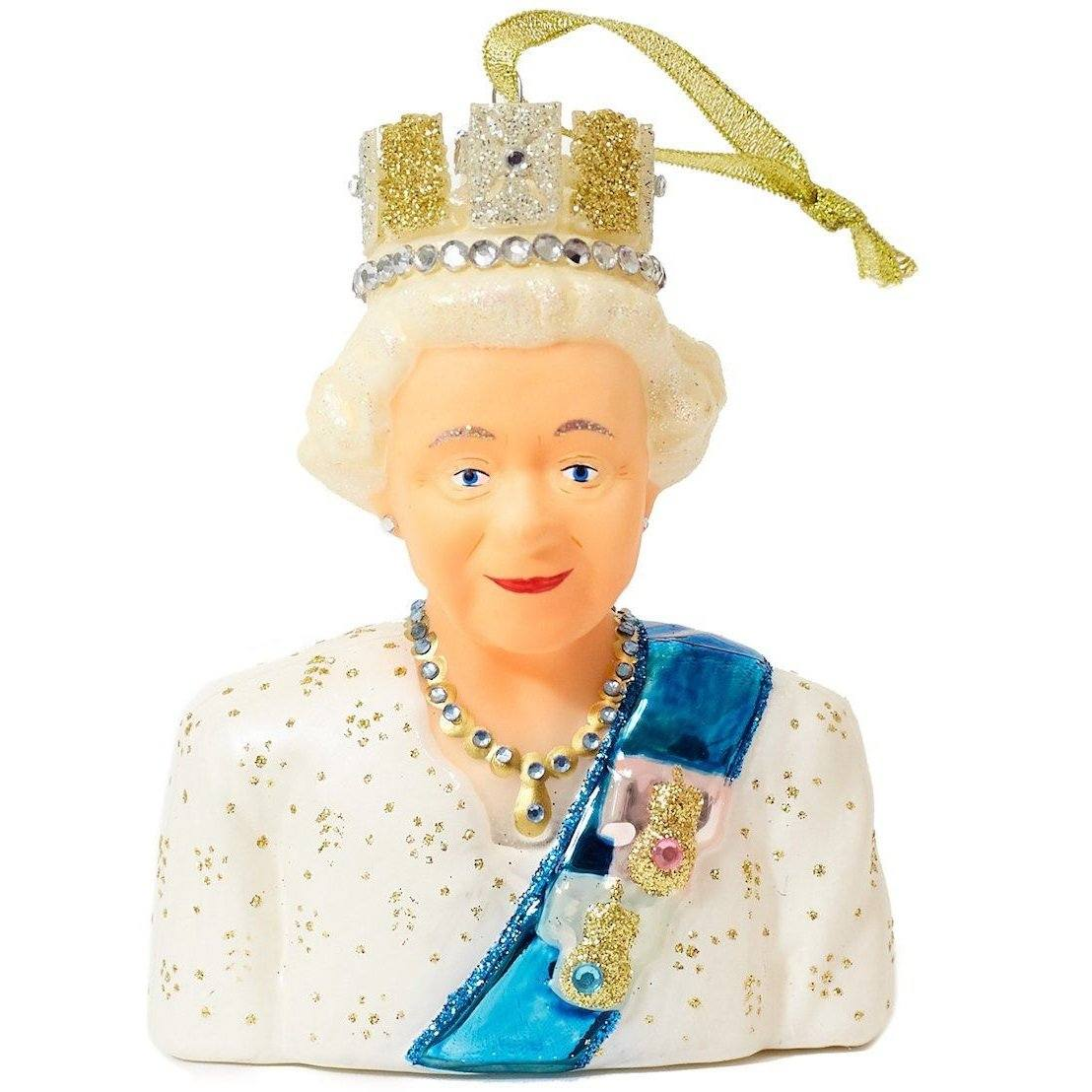 Queen Elizabeth Glass Ornament