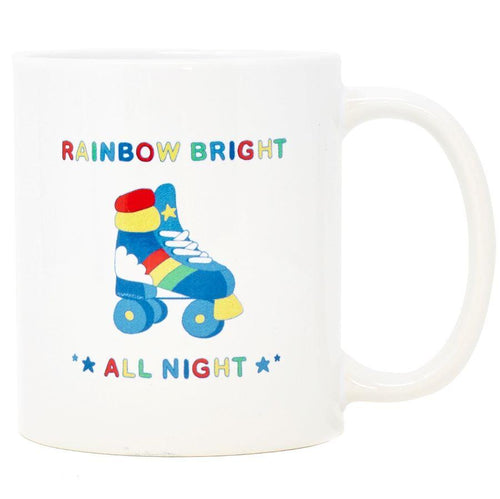 Rainbow Bright All Night Ceramic Coffee Mug