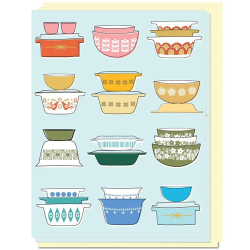 Pyrex Love Cards Set of 6