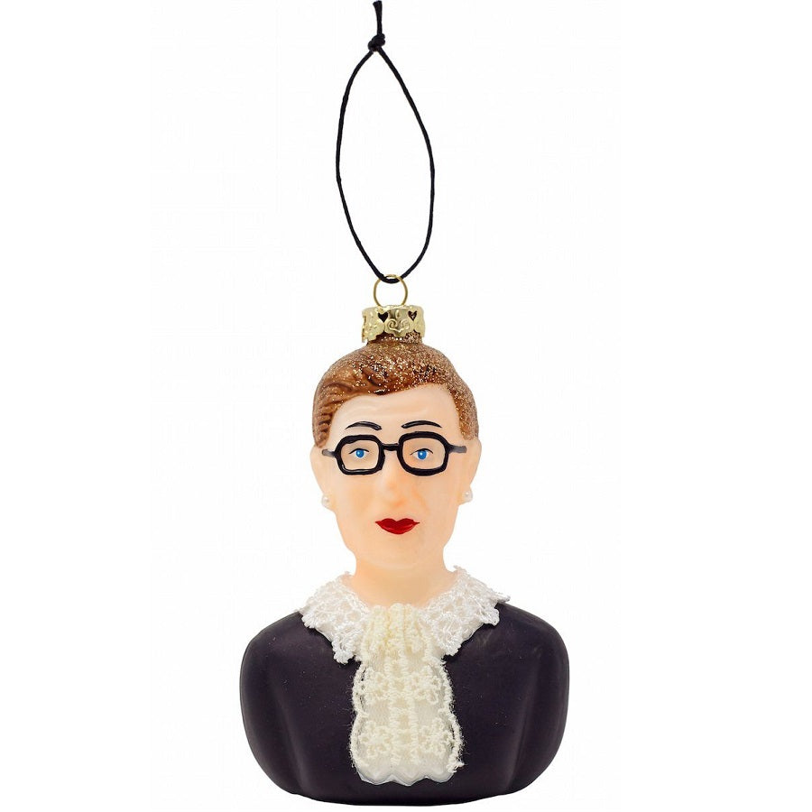 Ruth Bader Ginsburg Glass Ornament
