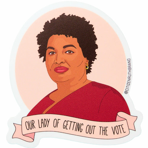 Our Lady of Getting Out the Vote Vinyl Sticker