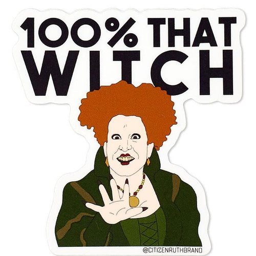 Hocus Pocus 100% That Witch Vinyl Sticker