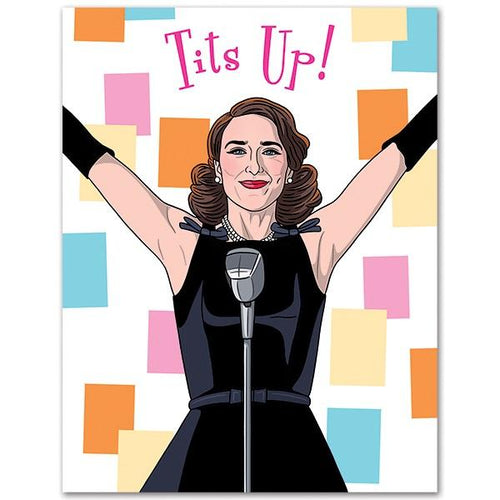 Tits Up! Birthday Card