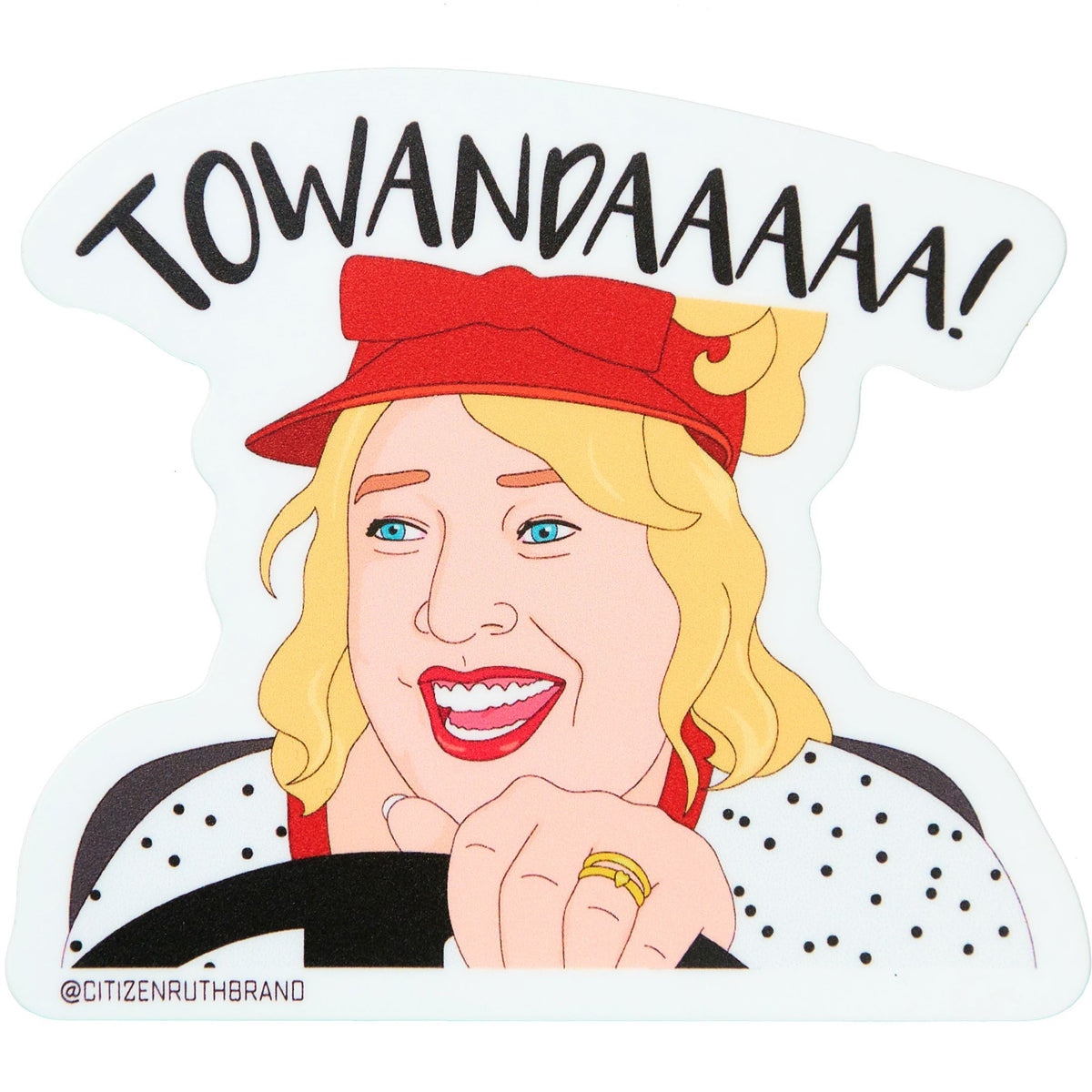 Towanda Vinyl Sticker