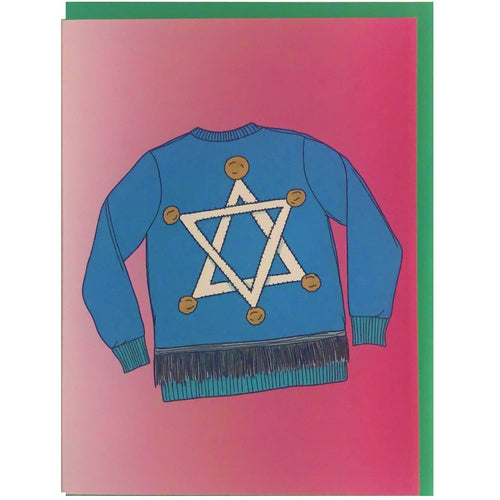 Ugly Hanukkah Sweater Card