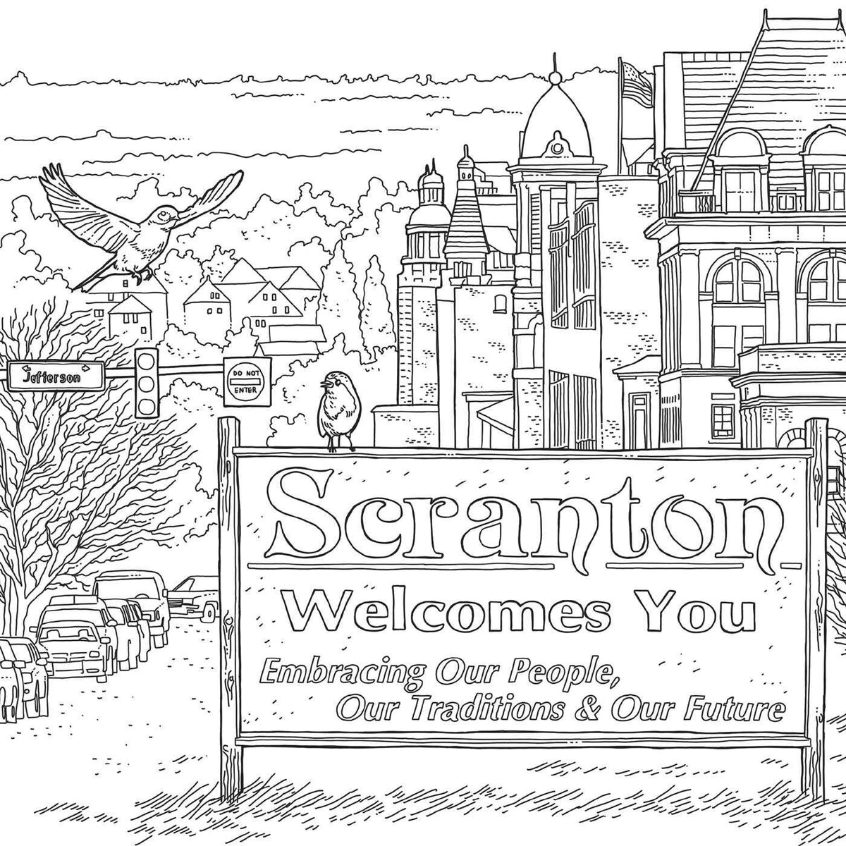 Welcome to Scranton - An Unofficial Coloring Book for Fans of The Office