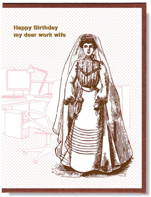 Happy Birthday My Dear Work Wife Card - Smitten Kitten - AlwaysFits.com