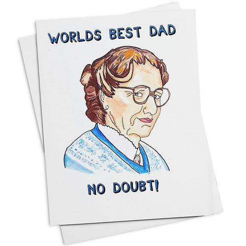 World's Best Dad No Doubt Card