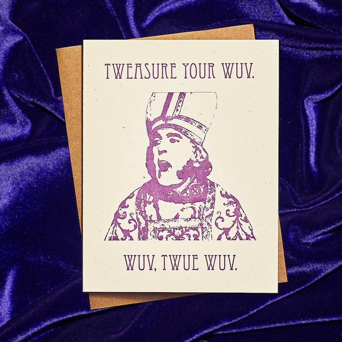 Treasure Your Wuv Card - Guttersnipe Press - AlwaysFits.com