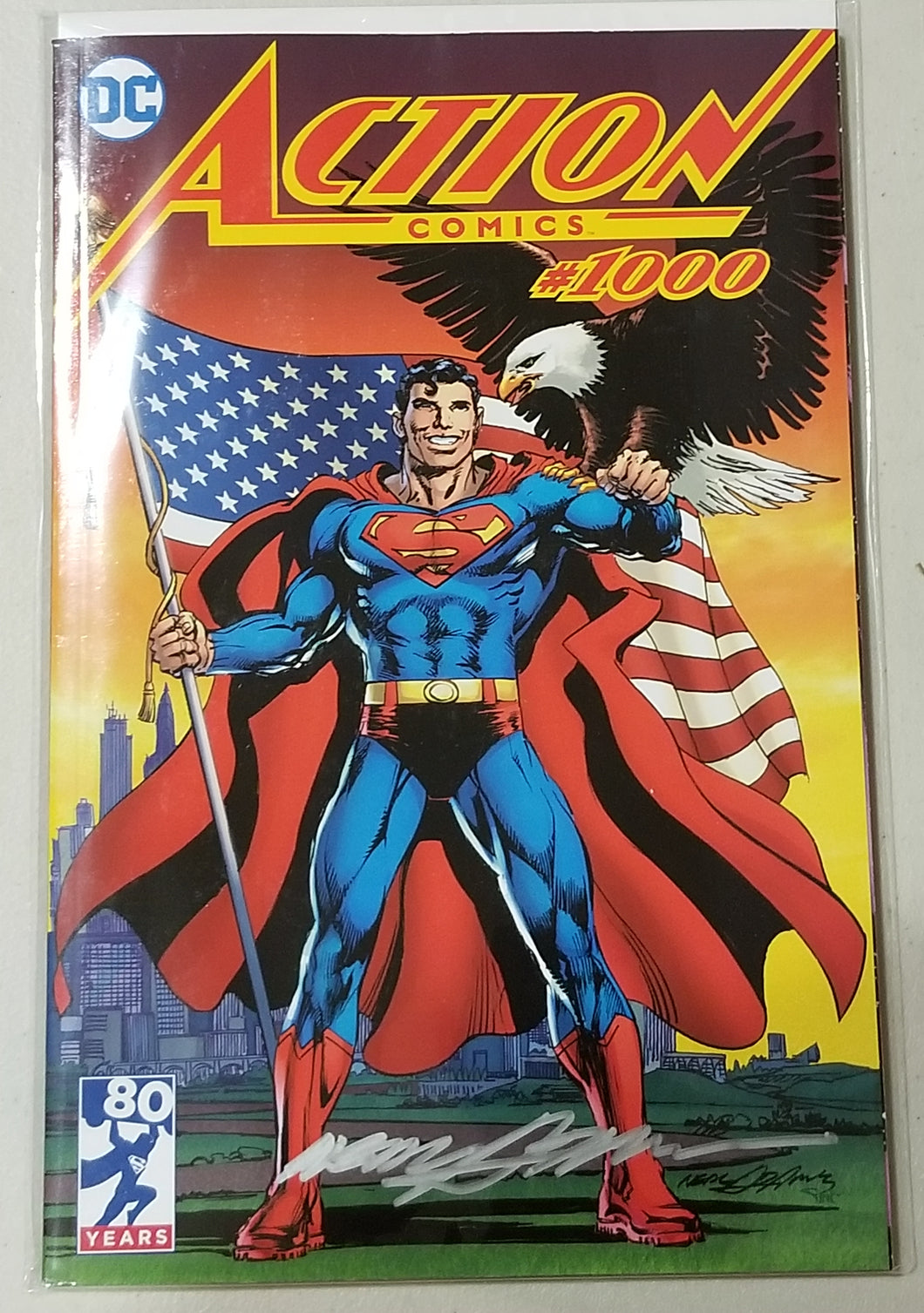Signed DC Action Comics #1000 Neal Adams/Legends Comics and Games Variant