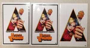Hardlee Thinn Sorah Suhng/Legends Comics Variant Matching set of 3 #9 Clockwork Orange Homage