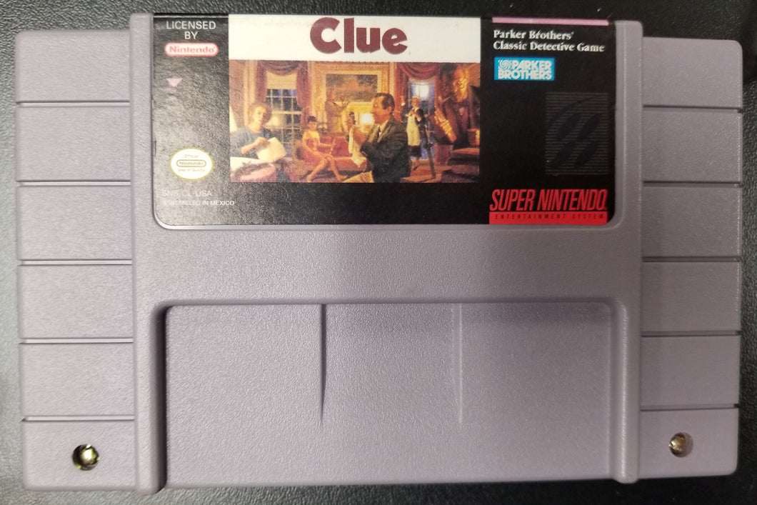 SNES Clue by Parker Brothers