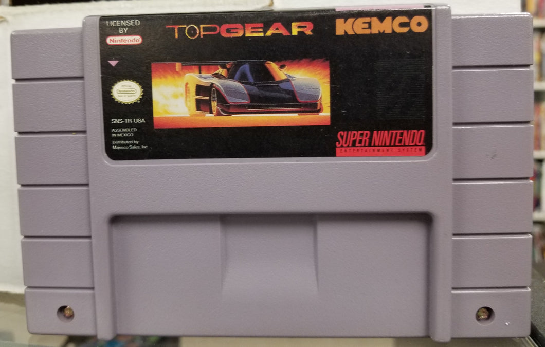 SNES Top Gear by Kemco